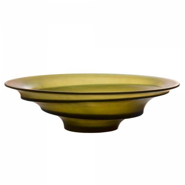 Olive green centerpiece Sand by Christian Ghion 225 ex