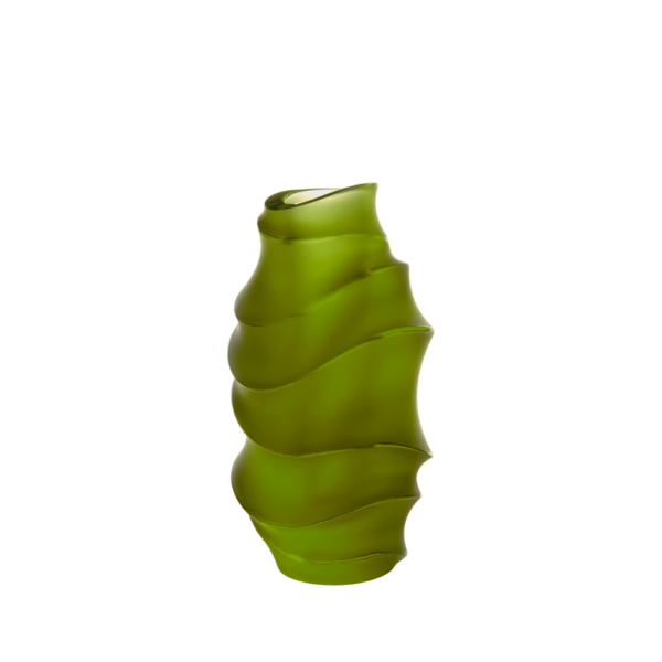 Small Sand Vase in Green by Christian Ghion