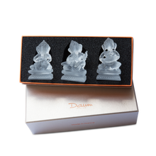 Load image into Gallery viewer, Ganesh Musicians in White, Set of 3