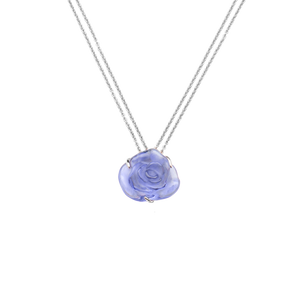 Rose Passion Crystal Necklace in Blue