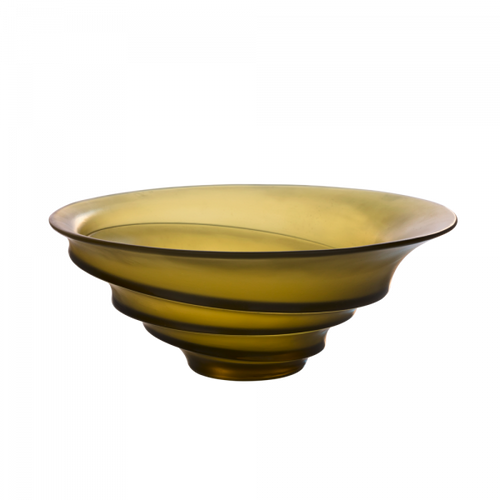 Olive green bowl by Christian Ghion 225 ex