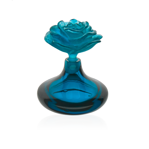 Small blue perfume bottle Rose Romance