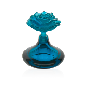 Rose Romance Perfume Bottle in Blue