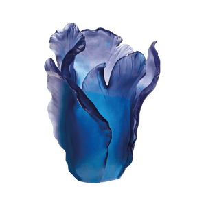Large Tulip Vase in Blue