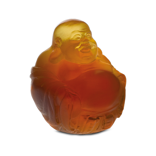 Little Happy Buddha in Amber