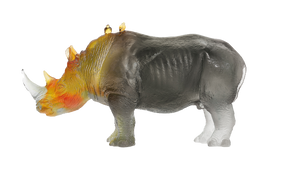 Rhinoceros in Amber & Grey by Jean-François Leroy 1000 ex