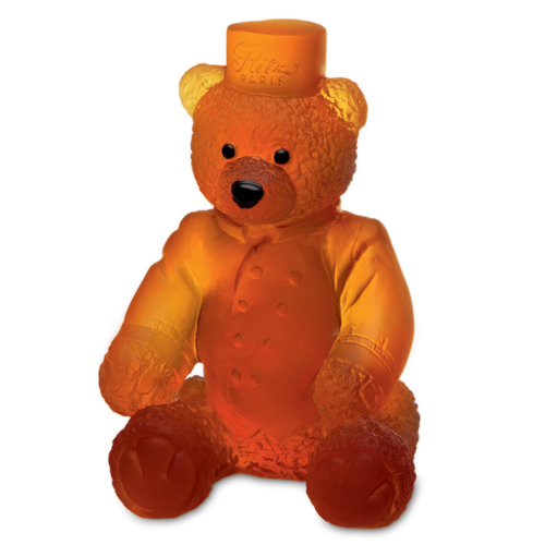 Large Ritz Paris Teddy Bear in Amber