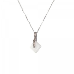 White Simple crystal Pendant Eclipse