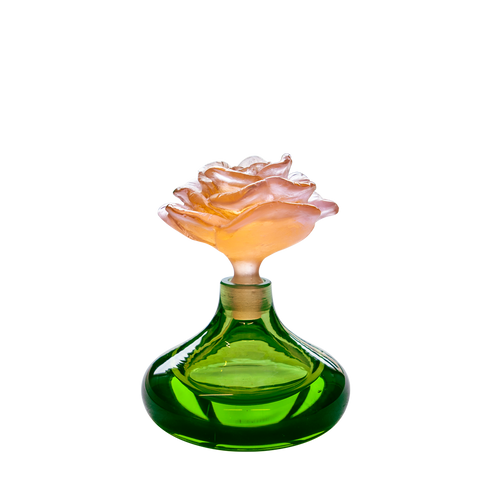 Green perfume bottle Rose Romance