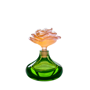 Rose Romance Perfume Bottle in Green