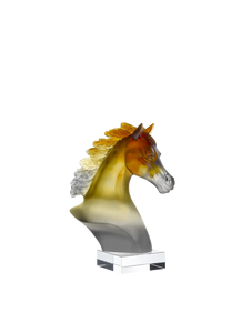 Arabian Horse Head in Amber & Grey