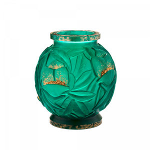 Large Empreinte Vase in Green & Gold 75 ex
