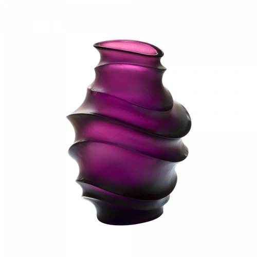 Medium Sand Vase in Violet by Christian Ghion 225 ex