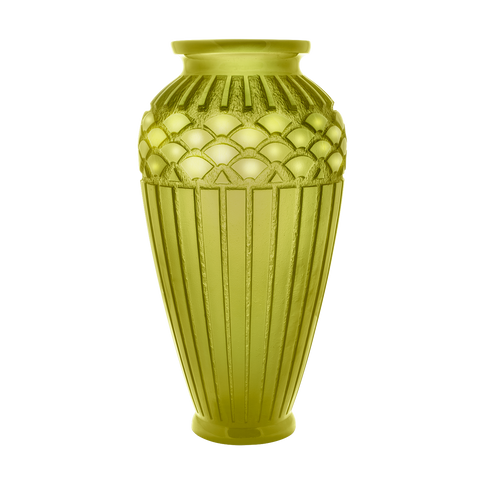 Rhythms Large Vase in Olive Green