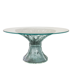 Grey Blue Vegetal Table