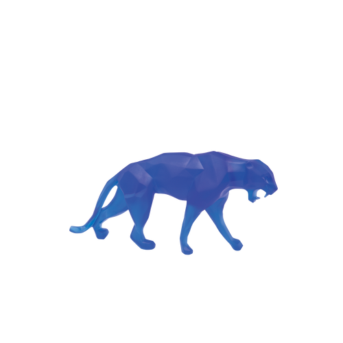 Small Wild Panther in Blue by Richard Orlinski 375 ex