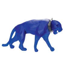 Load image into Gallery viewer, XL Wild Panther in Blue by Richard Orlinski 8 ex