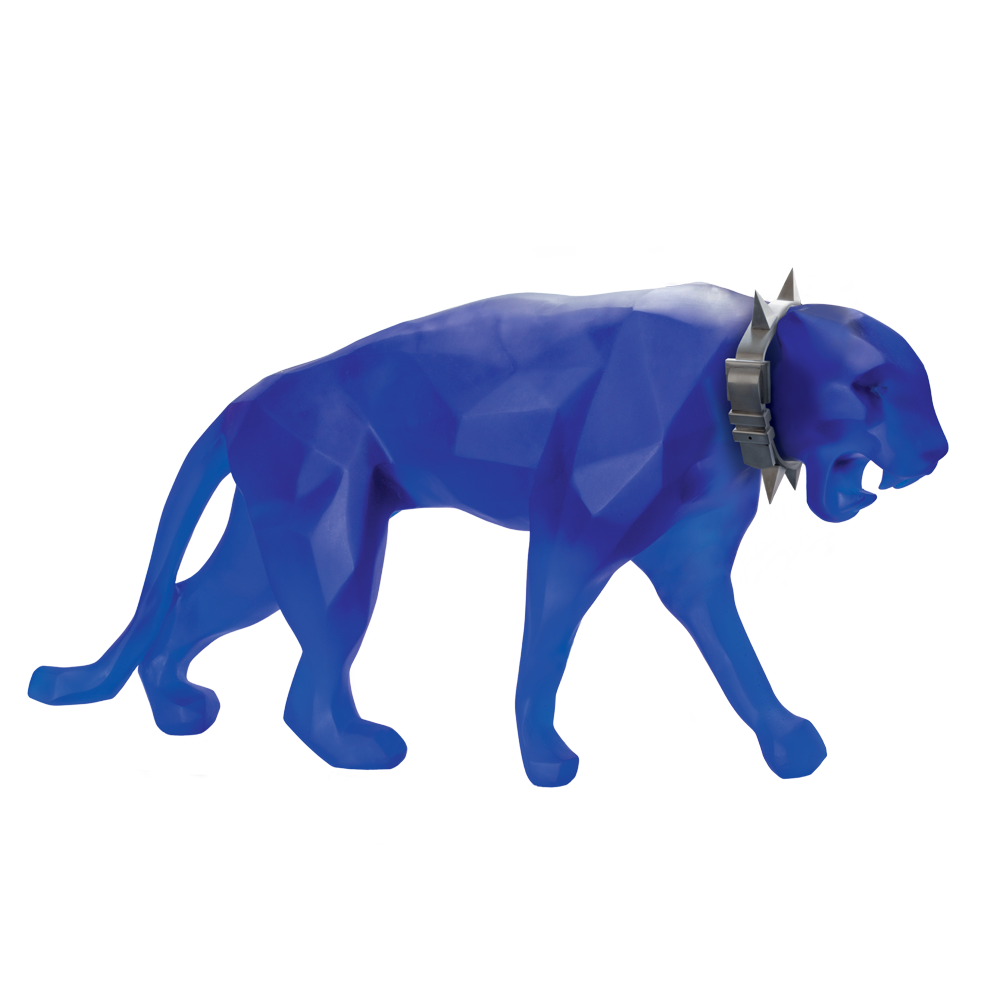 XL Wild Panther in Blue by Richard Orlinski 8 ex