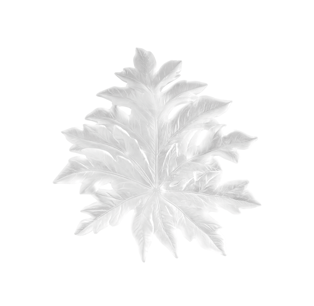 Small Short-Fixture Bornéo Wall Leaf in White by Emilio Robba