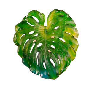 Small Short-Fixture Monstera Wall Leaf in Green by Emilio Robba