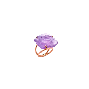 Rose Passion Crystal Ring in Ultraviolet