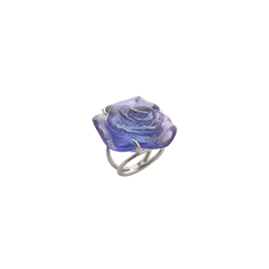 Rose Passion Crystal Ring in Blue