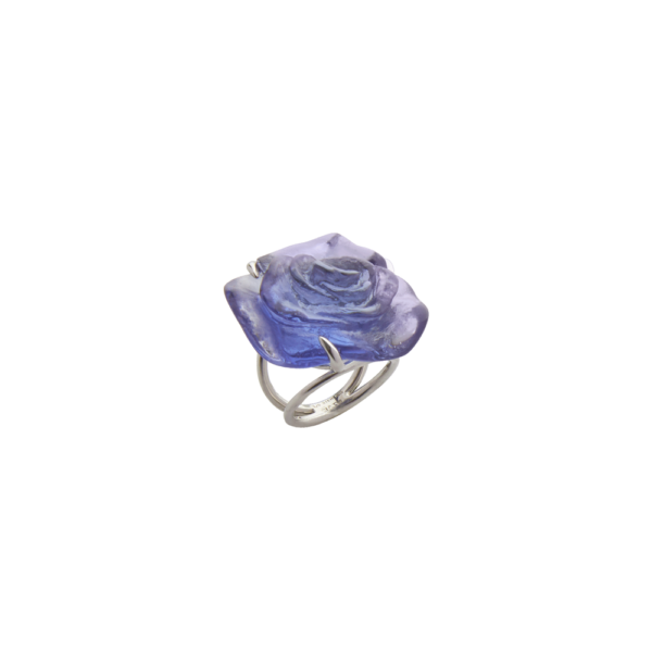 Blue crystal Ring Rose Passion Jewelry