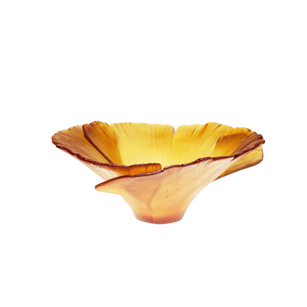 Tall Ginkgo Bowl in Amber