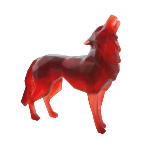 Red Wild Wolf by Richard Orlinski 125 ex