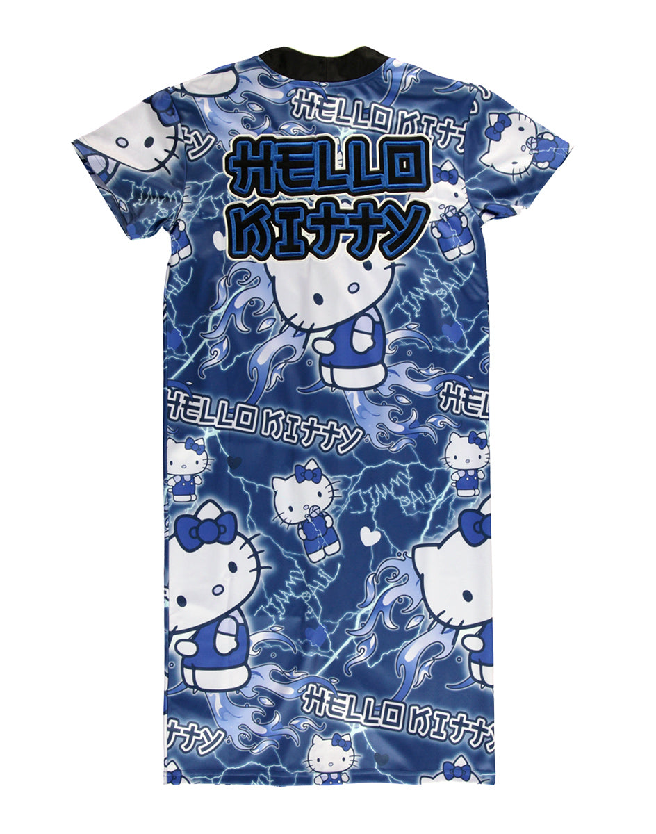 JimmyPaul x Hello Kitty - Blue Designer Print Dress