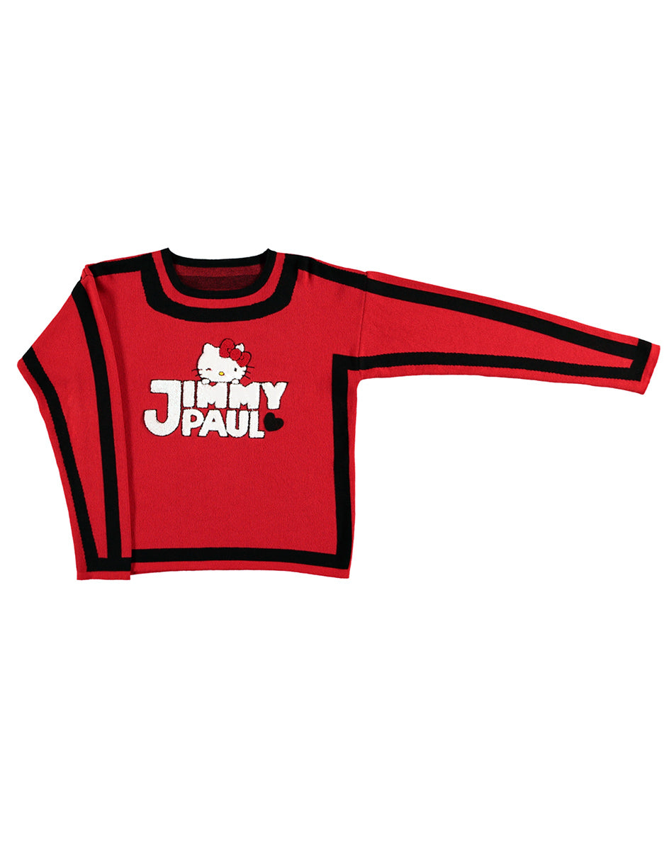 JimmyPaul x Hello Kitty - Red/Black Block Sweater