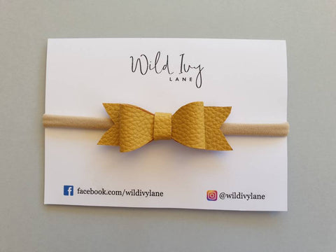 Sweetheart Headband - Mustard