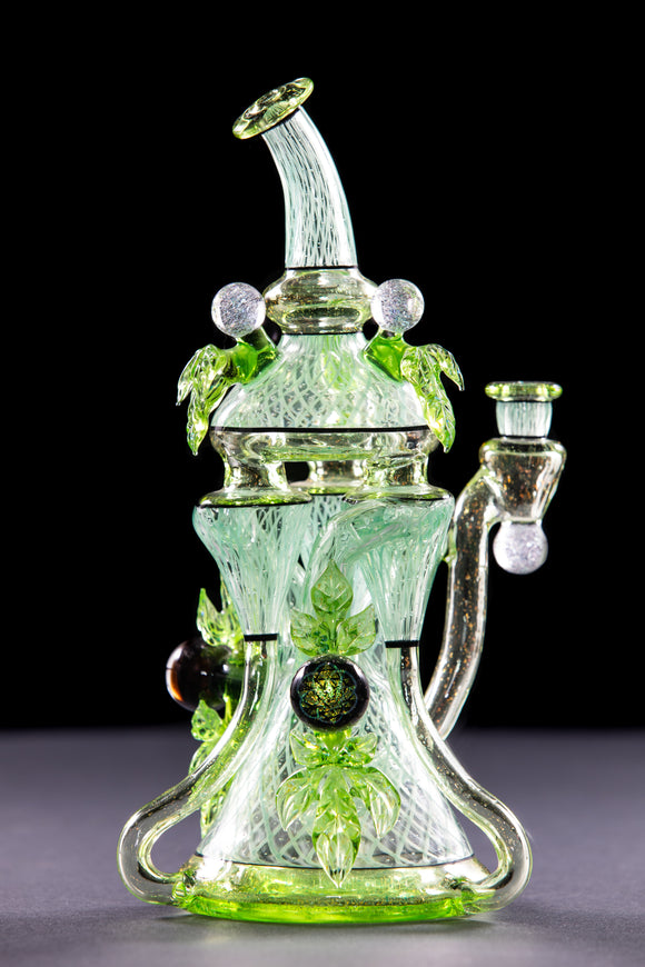 Mr Gray Dichroic Triple Recycler with Crushed Opal, Reticello, and Bubble Inclusions