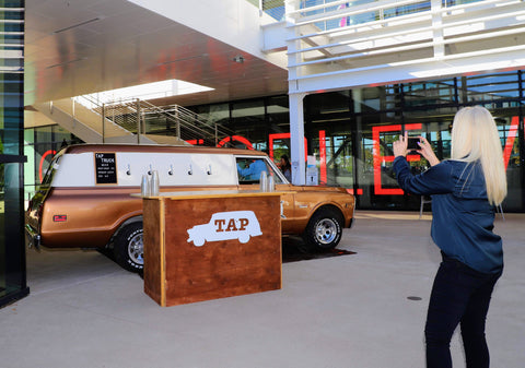 Amarillo offers the mobile bar experience that tap truck brings with its 1969 beer truck.