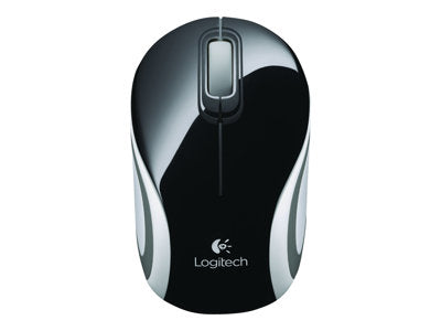 Logitech M187 - Mouse - optical - 3 buttons - wireless - 2.4 GHz - USB wireless receiver - black