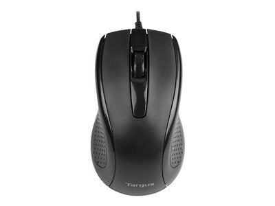 Targus Full-Size - Mouse - optical - 3 buttons - wired - USB - black