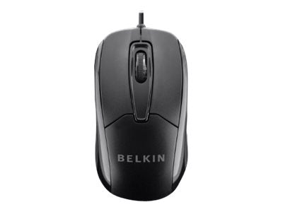Belkin Wired Ergonomic Mouse - Mouse - optical - 3 buttons - wired - USB