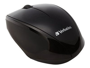 Verbatim Wireless Multi-Trac Blue LED - Mouse - optical - 3 buttons - wireless - USB wireless receiver - black