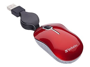 Verbatim Mini Travel Mouse Commuter Series - Mouse - optical - wired - USB