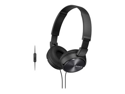 Sony MDR-ZX310AP - ZX Series - headphones with mic - full size - wired - 3.5 mm jack - black