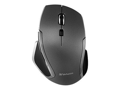 Verbatim Deluxe - Mouse - 6 buttons - wireless - 2.4 GHz - USB wireless receiver - graphite