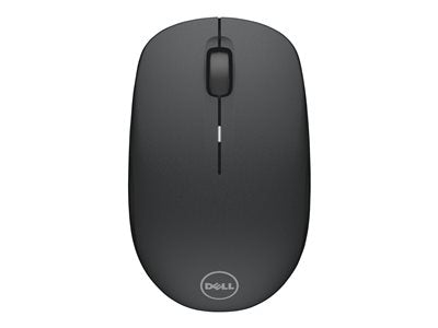 Dell WM126 - Mouse - optical - 3 buttons - wireless - RF - USB wireless receiver - black
