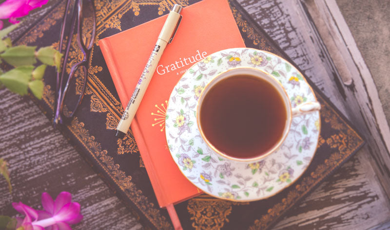 Gratitude journal. Morning routine ideas