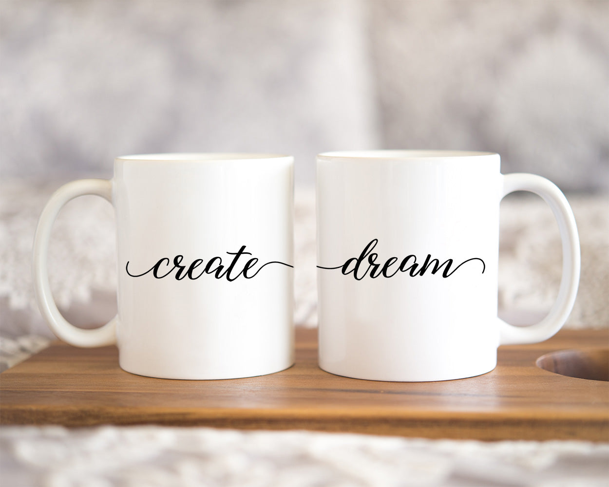 This sweet mug is the perfect reminder for girl bosses, artists, or creative spirits to dream, imagine, and let the creative spirit flow.