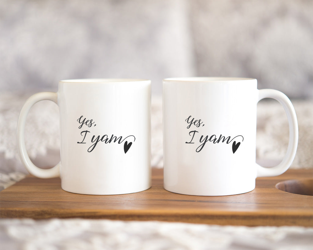 11 oz. mug set - You're my sweet potato | Yes, I yam