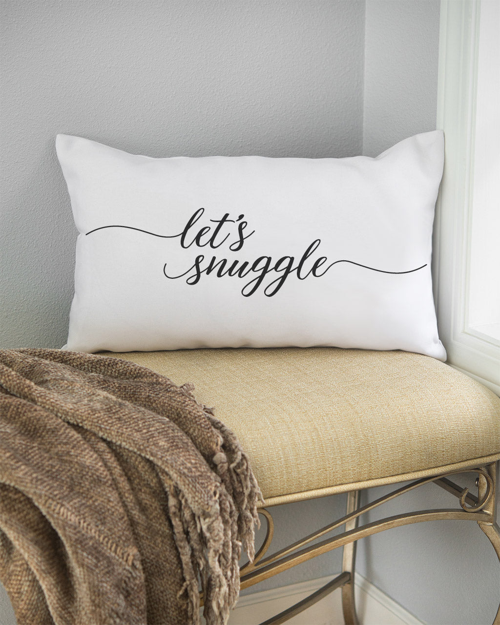 let's snuggle artisan lumbar pillow