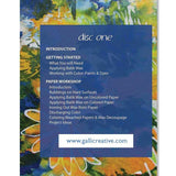 "Table of Contents - - from the DVD ""Batik Workshop: Fun with Paper and Fabric"""