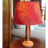 "Batik fabric lampshade project - - from the DVD ""Batik Workshop: Fun with Paper and Fabric"""