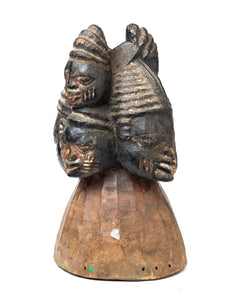 Yoruba headdress with 6 faces