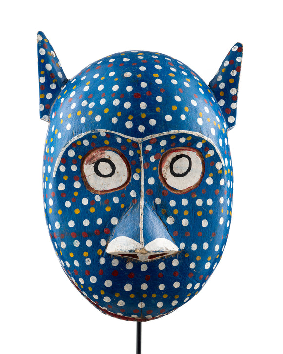 Blue cat mask